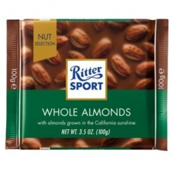 Czekolada Ritter Sport WHOLE ALMONDS 100g-1004